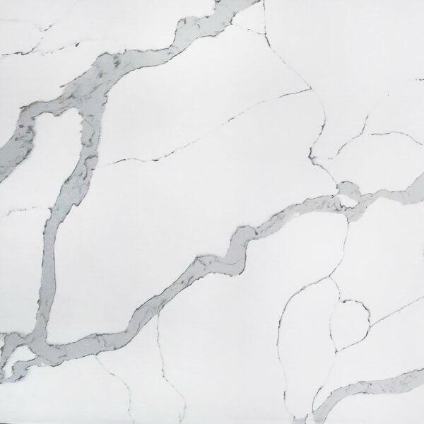calacatta white quartz stone 6089-1